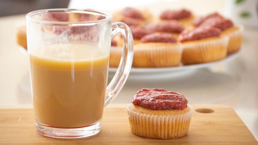 Low carb a keto muffiny s jahodovou marmeládou