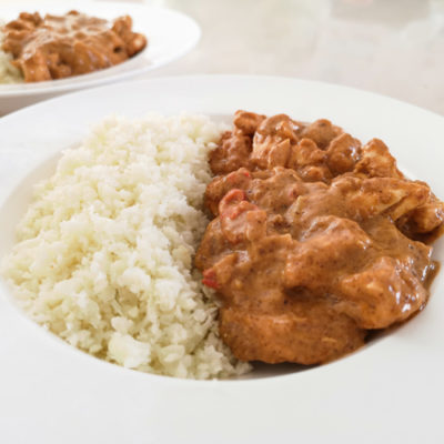 Low carb a keto indické kuře na kari